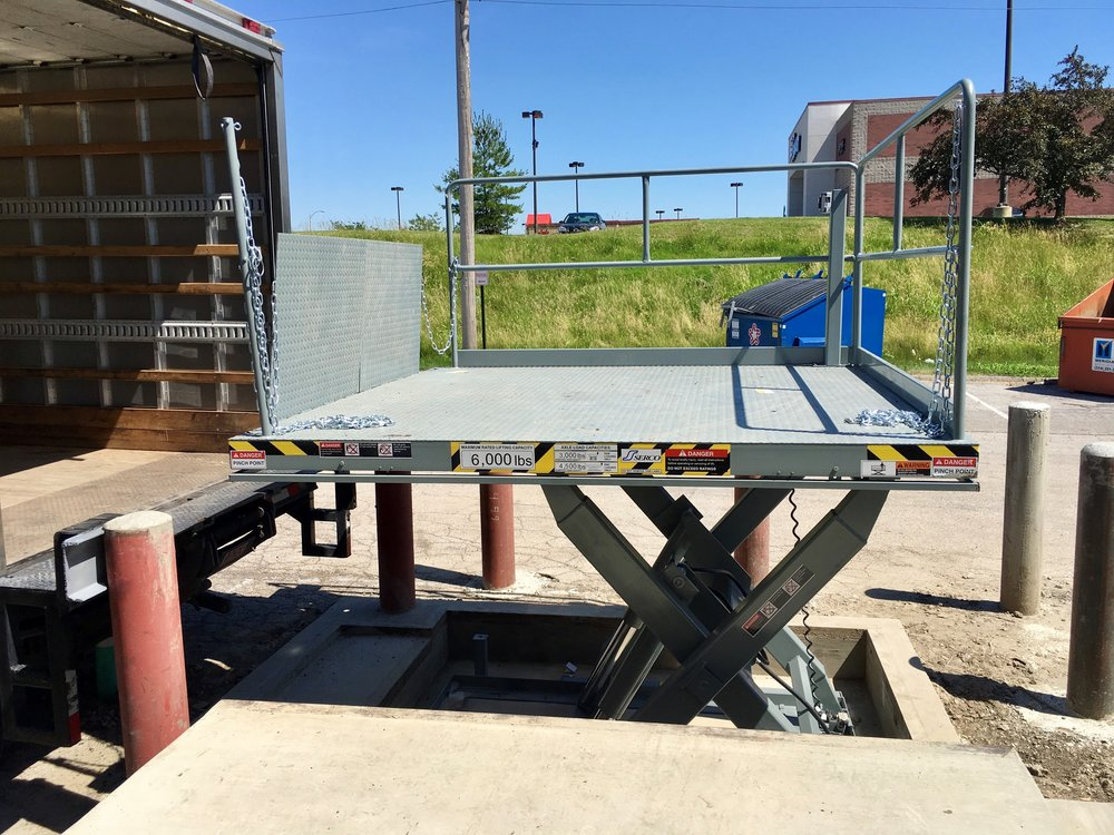 Loading Dock Lifting System Hydraulic Platform Lift for Loading Dock Interior or Exterior Dock Plate Riser for Material Handling