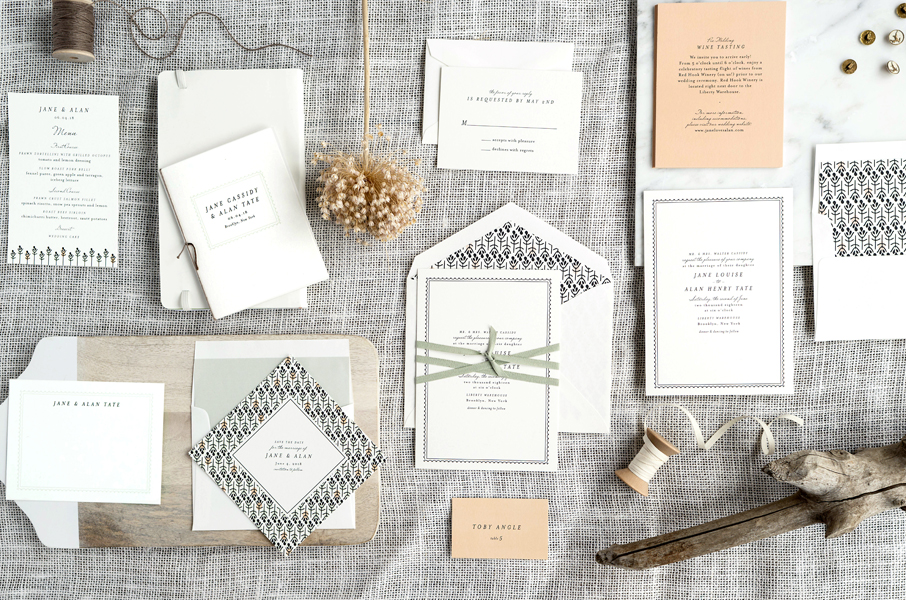 Simple Beach Wedding Invitation Set