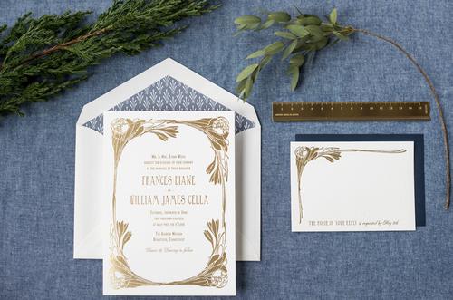Art Deco Wedding Invitations Hello Tenfold Wedding Invitations