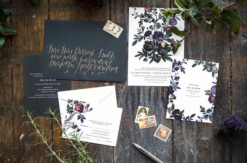 Botanical Wedding Invitations Hello Tenfold Wedding Invitations