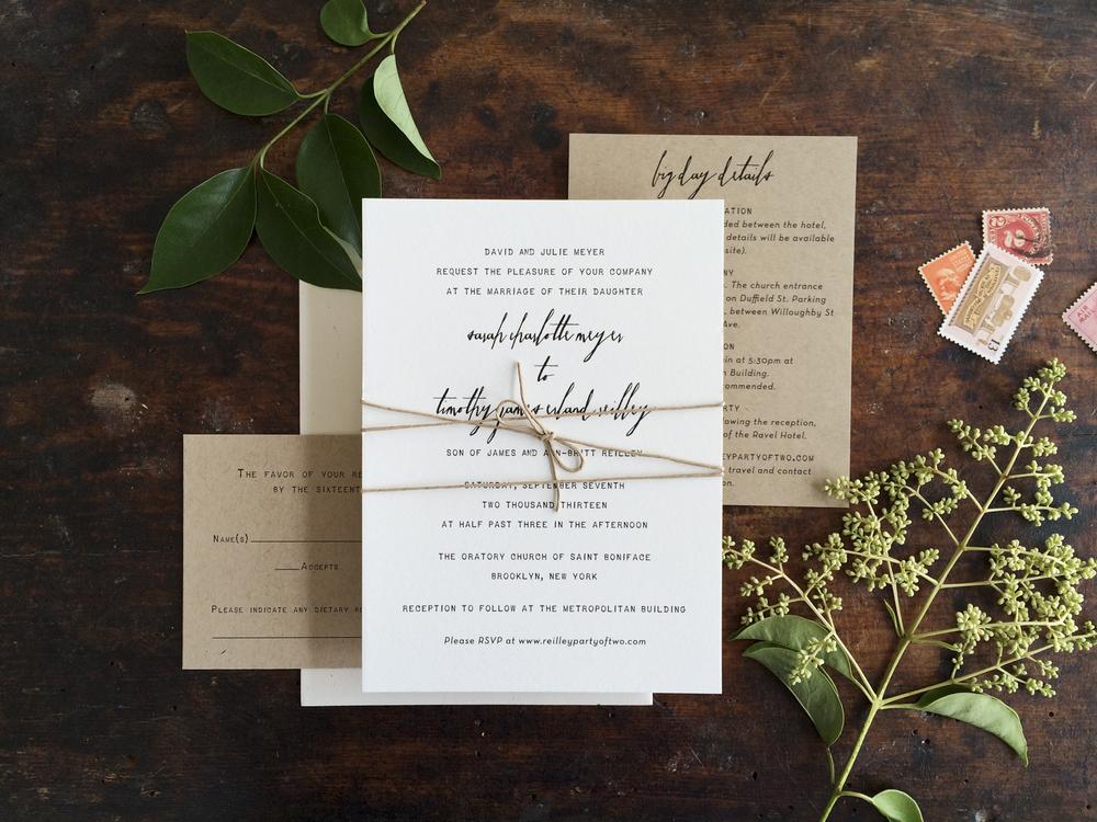 simple rustic wedding invitation 1jpg - Rustic Wedding Invitation
