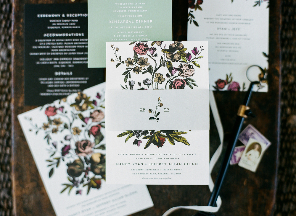 flora suite — hello tenfold wedding invitations, Wedding invitations