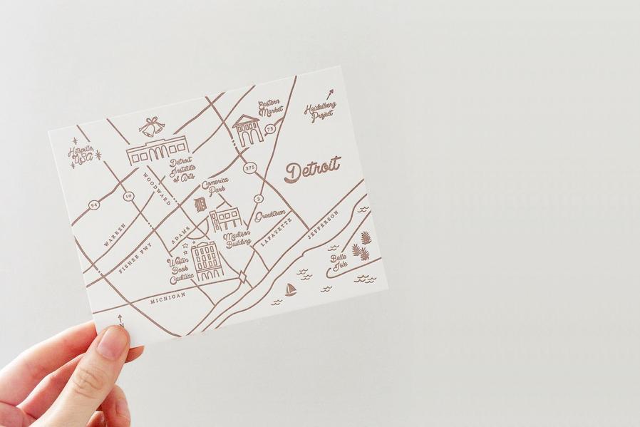 Custom Maps Hello Tenfold Wedding Invitations