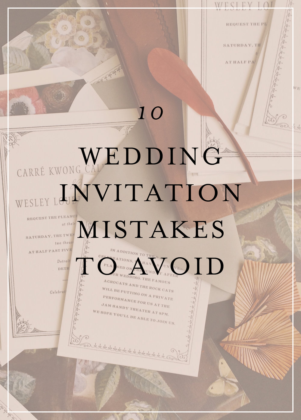 Do you write guest names on wedding invitations