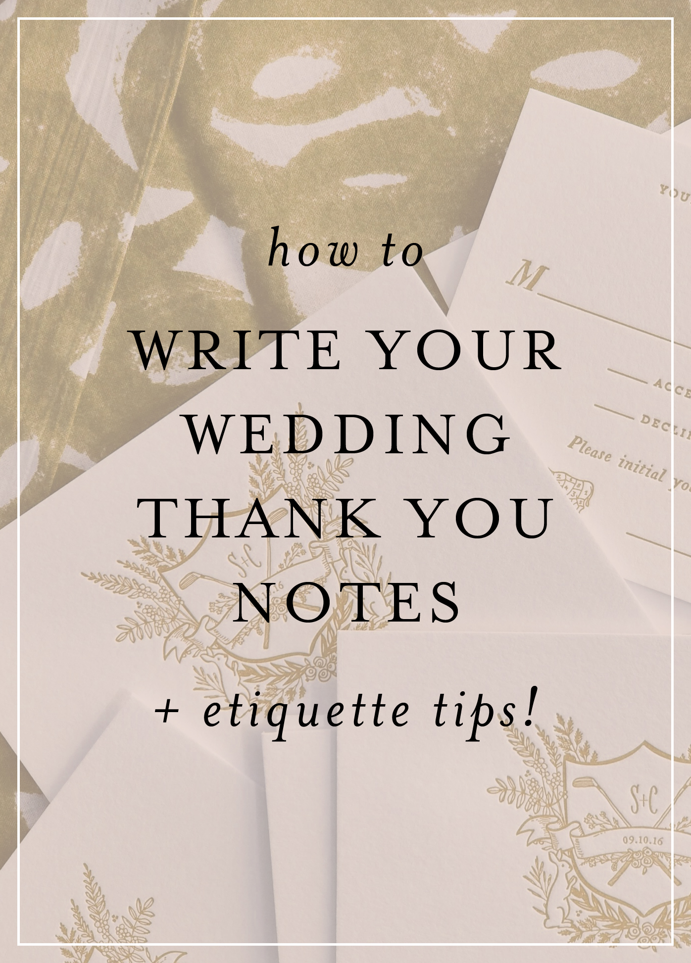 How To Write Your Wedding Thank You Notes Hello Tenfold Wedding
