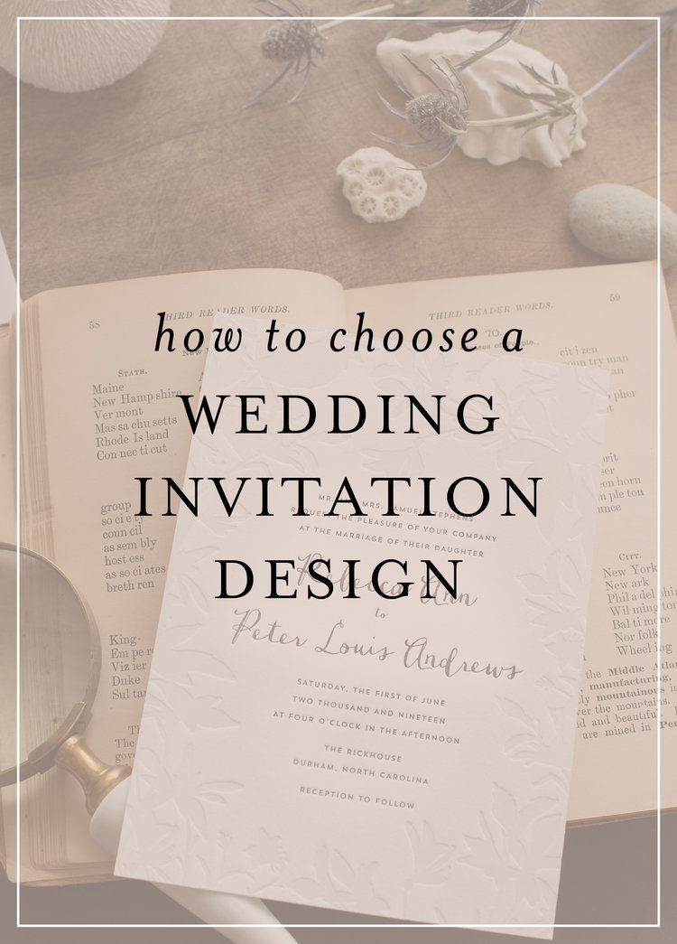 4 things to consider before choosing your wedding invitation design ...