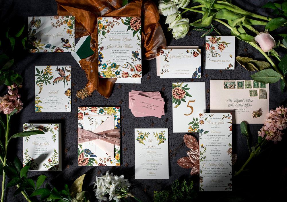 crop wilde garden floral colorful wedding invitations hellotenfold - Wilde Garden