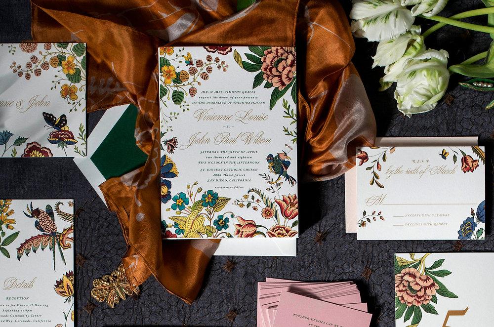crop2 wilde garden floral colorful wedding invitations hellotenfold - Wilde Garden