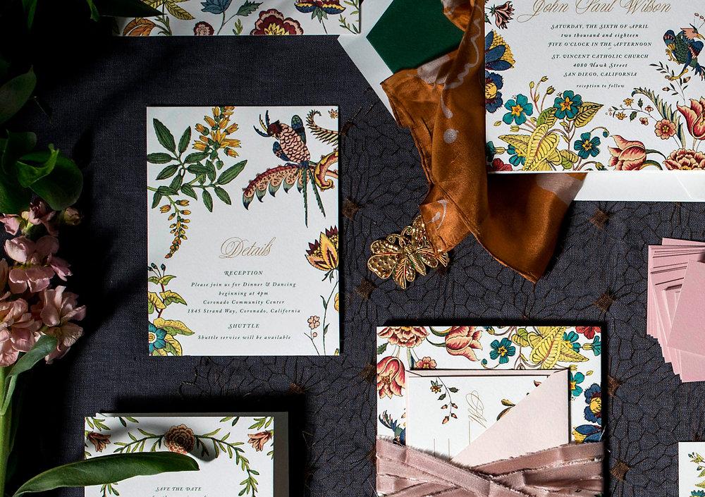 crop3 wilde garden floral colorful wedding invitations hellotenfold - Wilde Garden