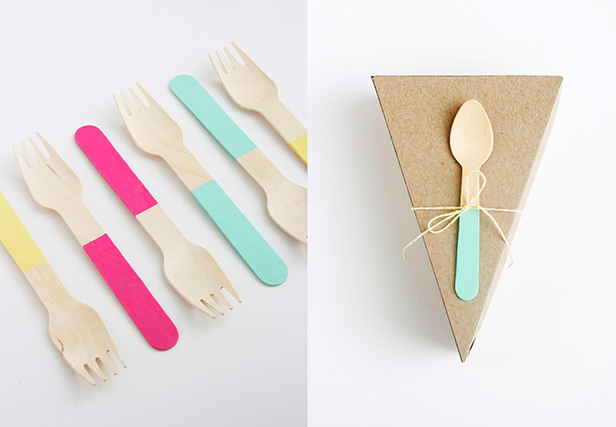 a la modo LLC pie boxes with colorblock forks