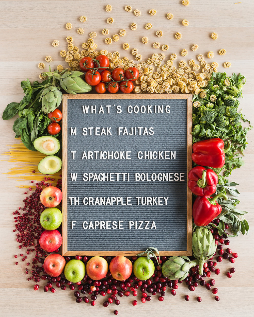 I'm hanging on to a few of those ingredients from the holidays that I can't seem to quit yet. (like cranberries!) This week's lineup is a good one. I'm most looking forward to the Artichoke Chicken on Tuesday!  Download and print recipes HERE !