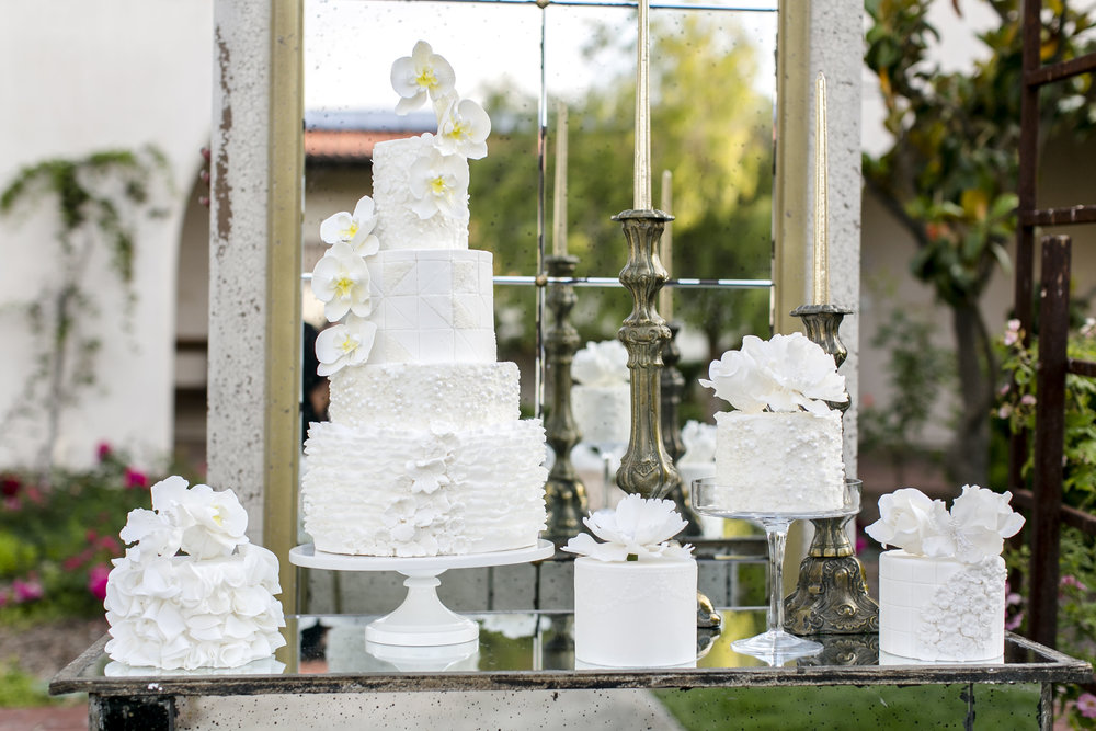 Glamorous White Wedding Cake Collection Grace and Honey Cakes Orange County California