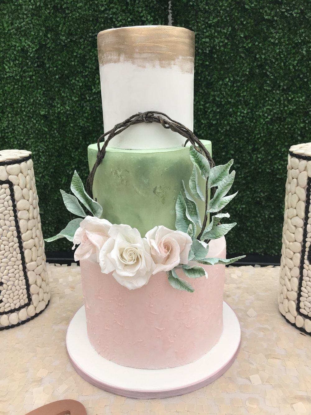 Boho Wreath Cake