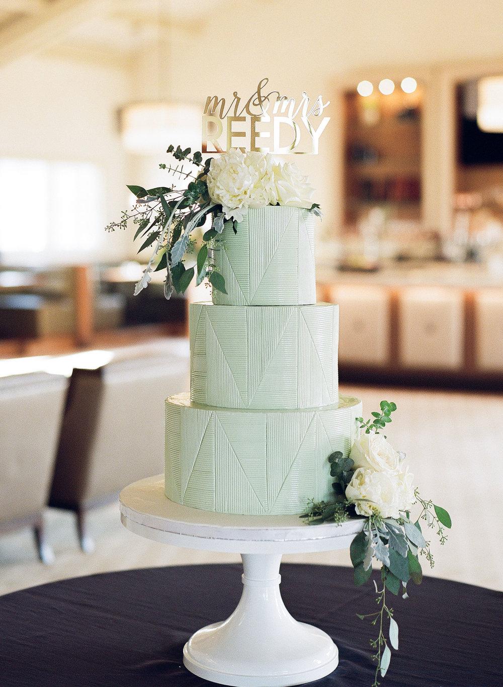 Geometric triangle wedding cake