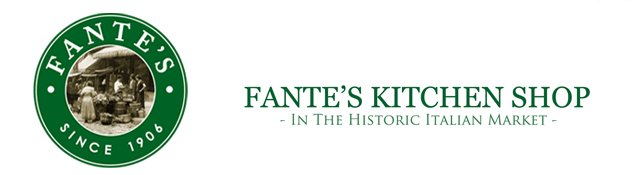 About Fante's Kitchen Shop     WHAT WE DO  We specialize in the sale of kitchen utensils for both professional chefs and home cooks.  Along with lots of unique tools, our Philadelphia store includes a full selection of cookware, cutlery and many thousands more quality products than you will find on our website.  We try to provide you with concise information about all our products, together with many guides and manuals.  We do our best to always provide good quality, good value, and personal support - even after the sale.