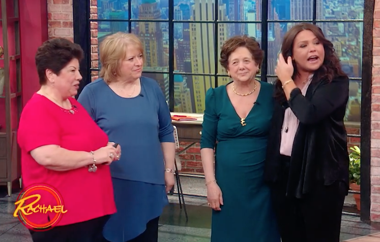 Elisa Returns to rachael ray - Click to Watch elisa Judge the first ever parm off contest on rachael ray Part One