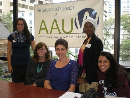 Gathering with my fellow American Association of University Women (AAUW) postdoctoral research award winners in Chicago in 2016.