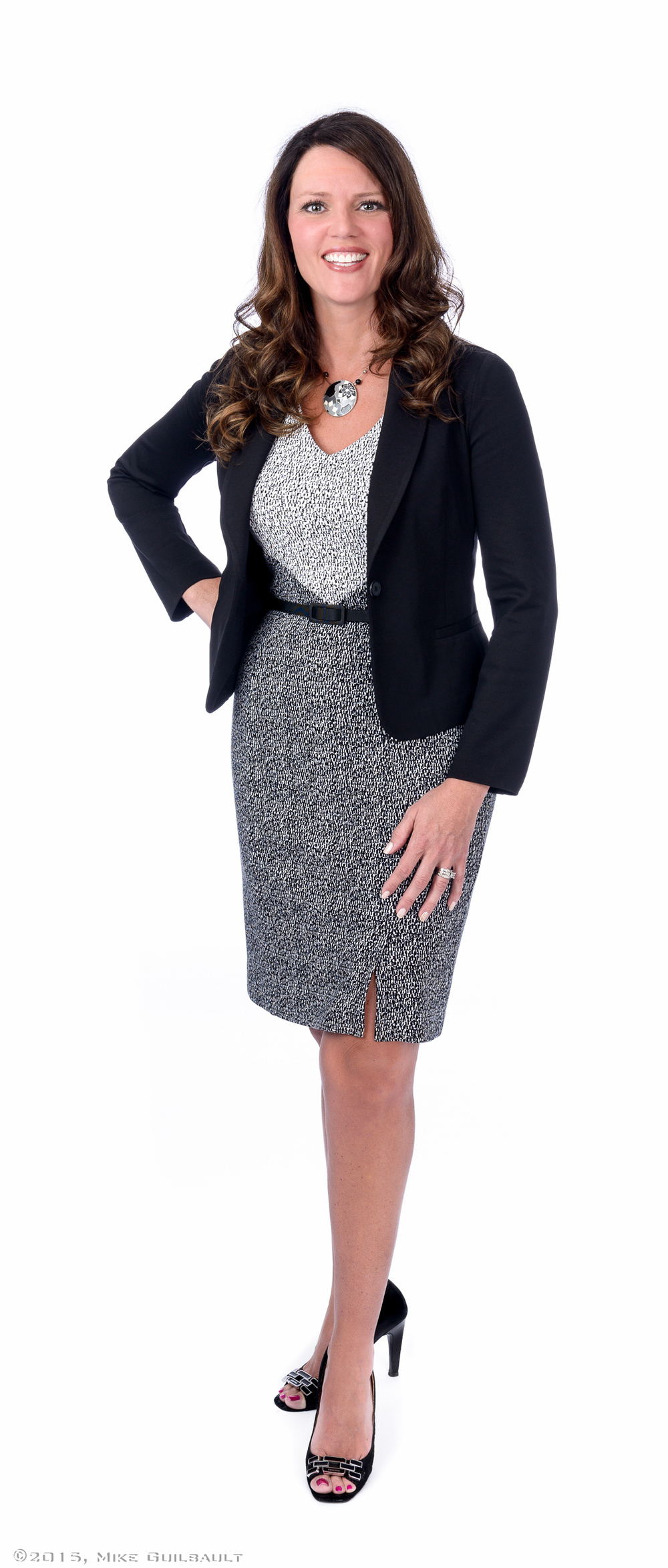 Full Length Business Portrait on White Seamless Background