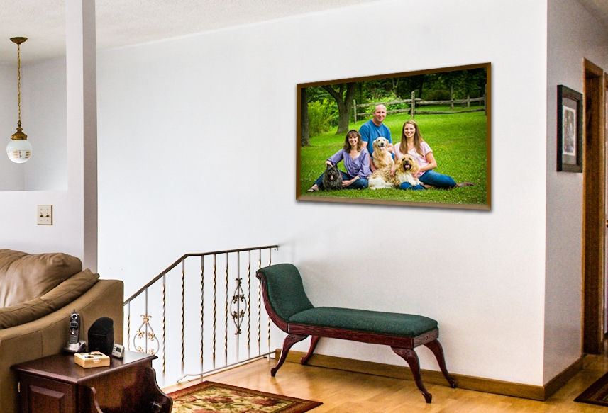 Consider where you would like to display your family portrait.