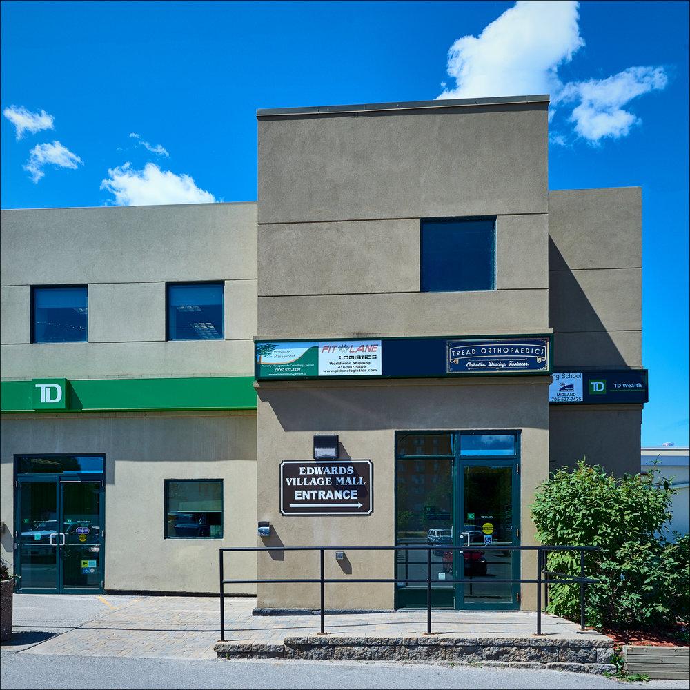 Rear entrance to our studio, 295 King St. Midland, Ontario