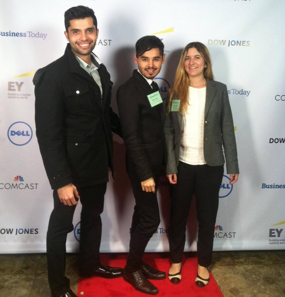 Picture Yourself Here! Italo Alves (Former AC Director of Policy and Research), Sayid Abdullaev (AC Co-founder/Co-director), and Katie Sgarro (AC Co-founder/Co-director) at Business Today's 41st International Conference in New York City.