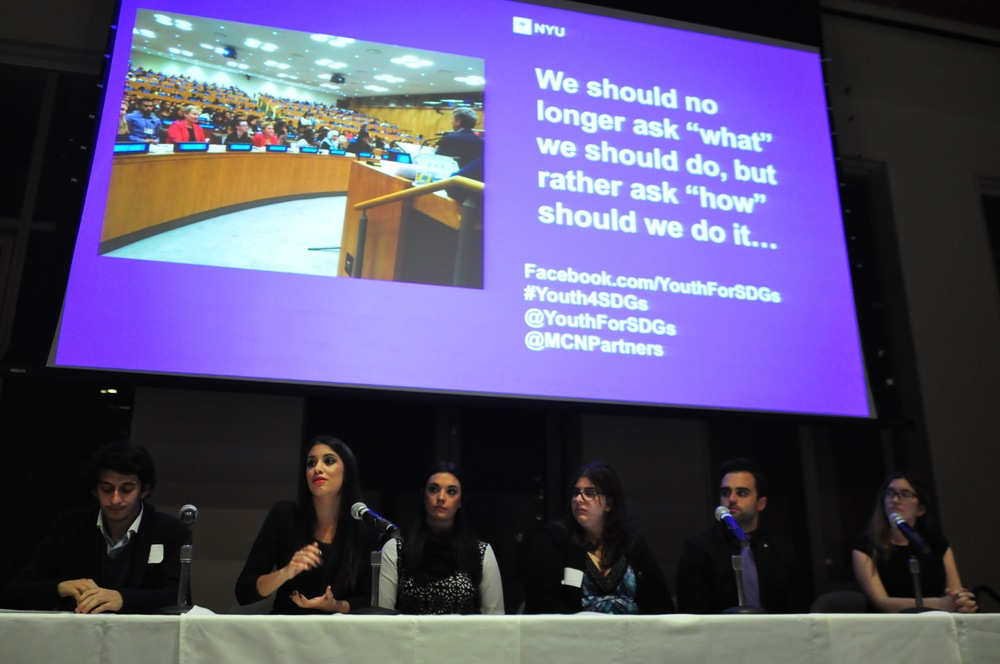Katie, AsylumConnect Co-founder/Co-director, with the other global campaign leaders as part of the event's panel discussion with Q & A