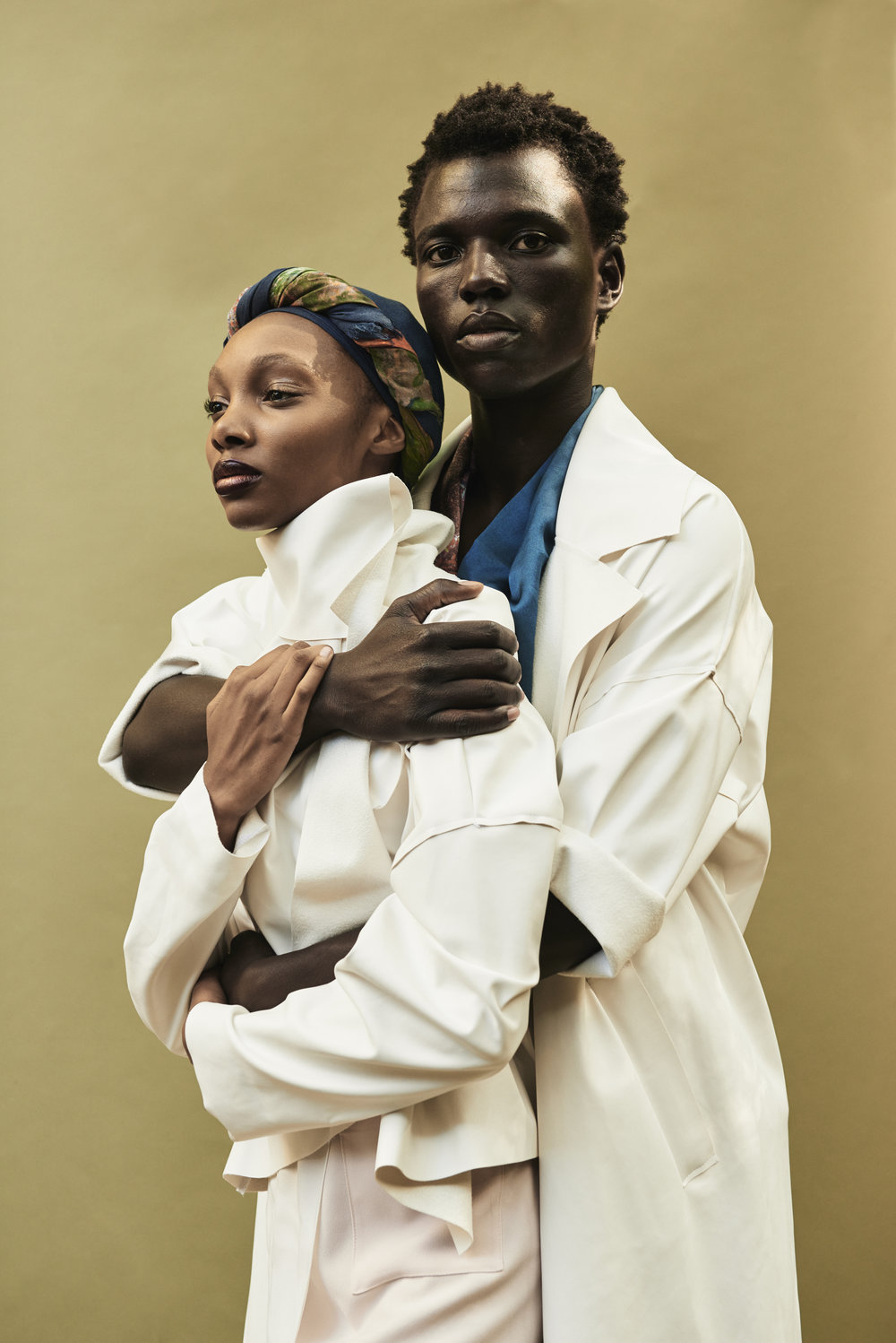 Photography: Timothy Smith - Styling: Paix Robinson - Hair/Makeup: Jake Aebly - Models: Yanii Gough & George Afrekh