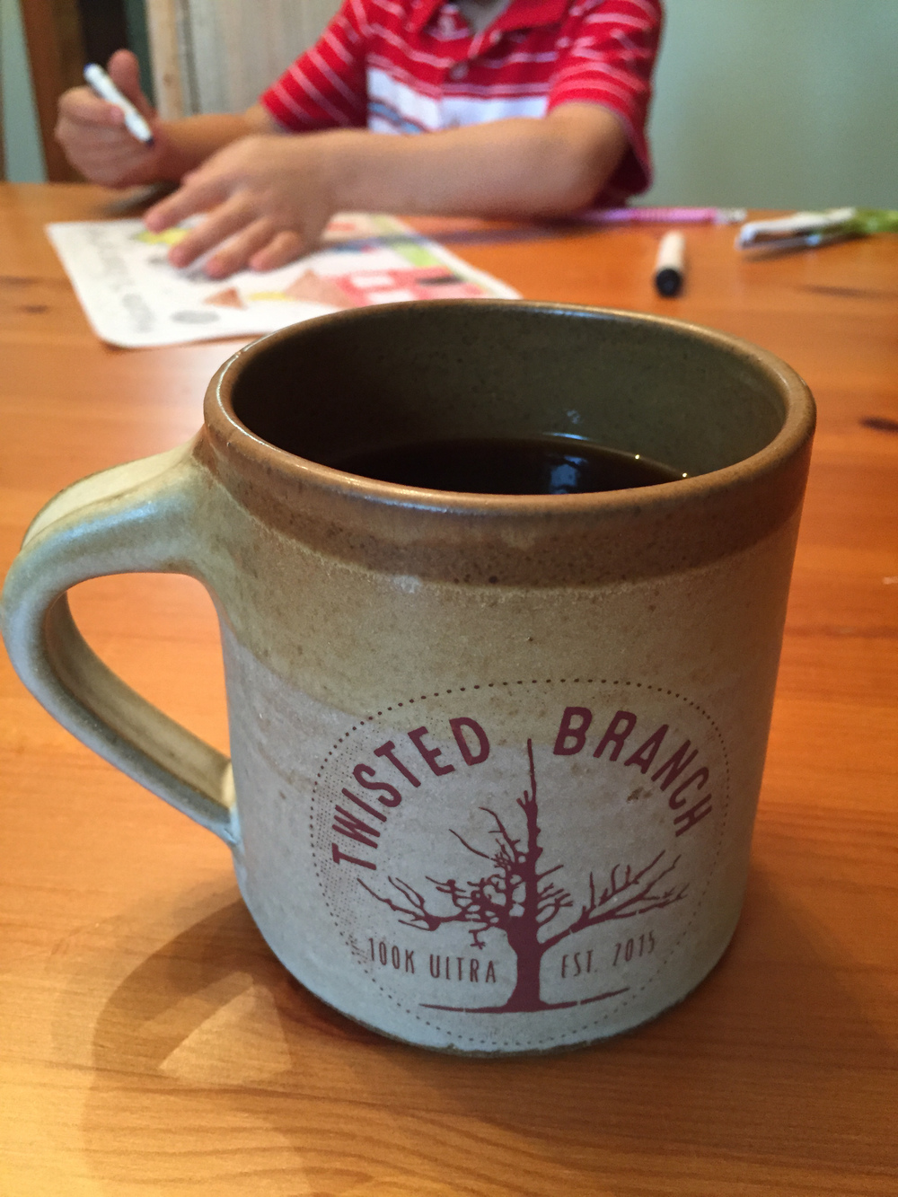 Twisted Branch Mug on Running Inside Out Podcast