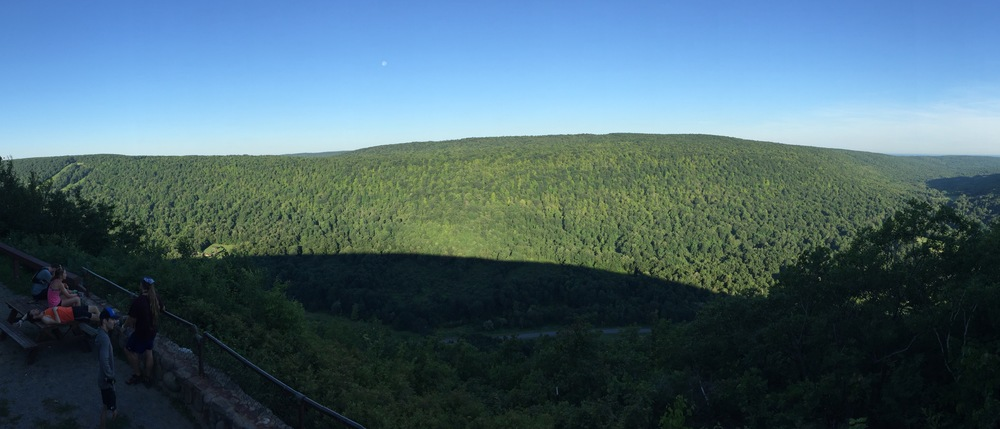 The lookout from the highest point in Ontario County (Photo: Chris O'Brien)