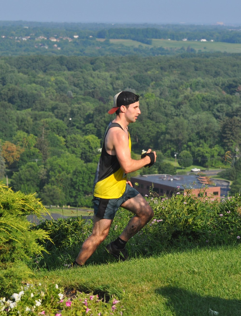 Vidmar tearing up the #TrailsRoc 0 SPF course