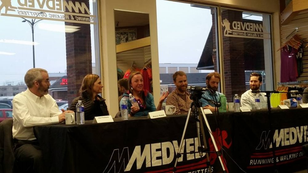 L-R: Joe Packard, Sharon Radak, Sarah Keyes, Jamie Hobbs, Matt Smythe, Mitch Ball