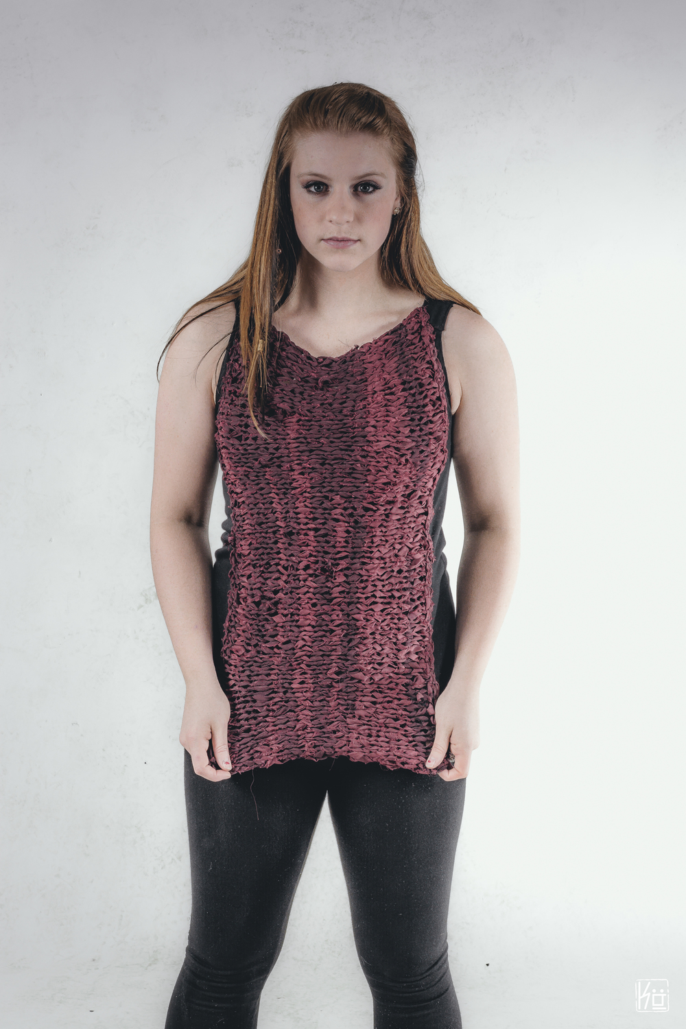 Red Hand Knit Top
