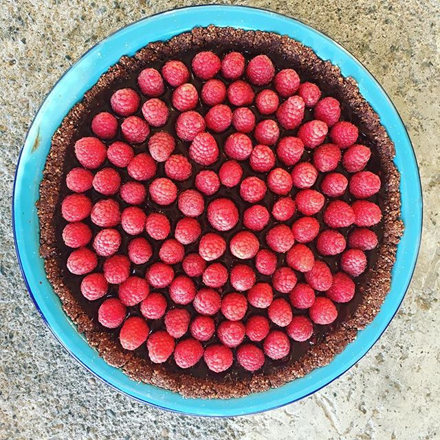 Torte season! #rasberry #torte #yum #vegan #sweets #homegrown