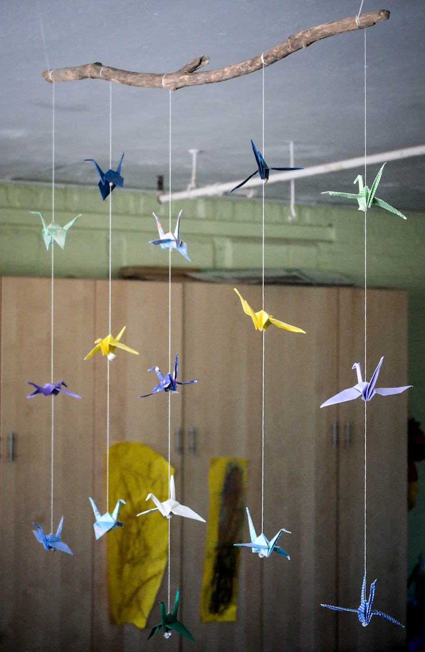 Cranes on a Branch Mobile