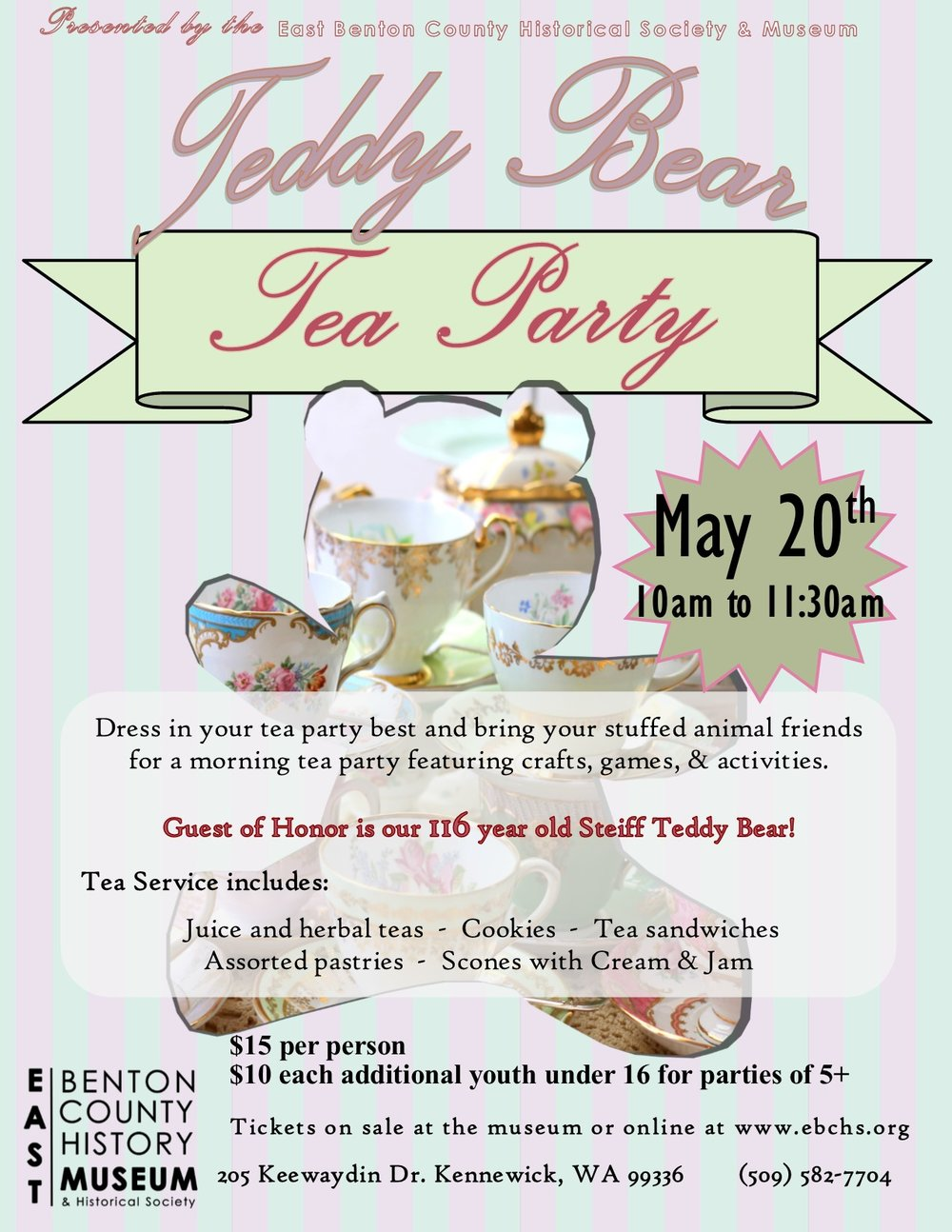 Teddy Bear Tea Party Flyer