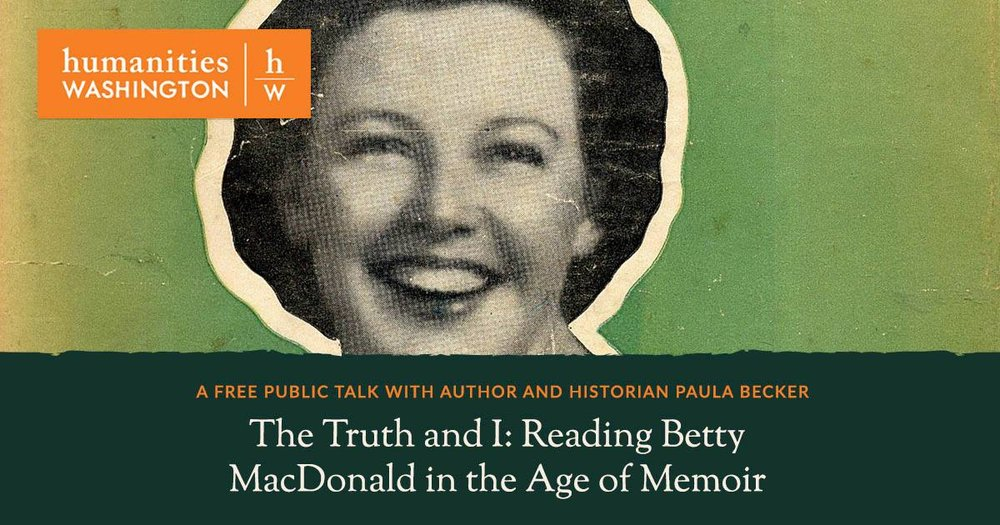 """About the Presentation  Betty MacDonald burst onto the American literary scene in 1945 with her memoir,  The Egg and I , a tartly witty tale about operating a chicken ranch on Washjington'sdauntingly wild Olympic Penisula. Betty's vivacity, offbeat humor, and irreverent take on life captured a public ready to laugh again after the grim, hard years of World War II. During its first year,  The Egg and I  sold one copy every 22 seconds.  Although she wrote autobiographically, Bett's relationship with the truth was slippery. During a 1951 libel suit, Betty testified that she'd made up nearly all of  The Egg and   I --questionable testimony that worked in her favor. Betty's reader seemed not to mind this discrepancy, but, why? This talk, led by journalist and Betty MacDonald biographer Paula Becker, ponders how Betty's kind of nonfiction related to the popular genre of memoir today. What--then and now--does """"truth"""" in memoir mean?"""