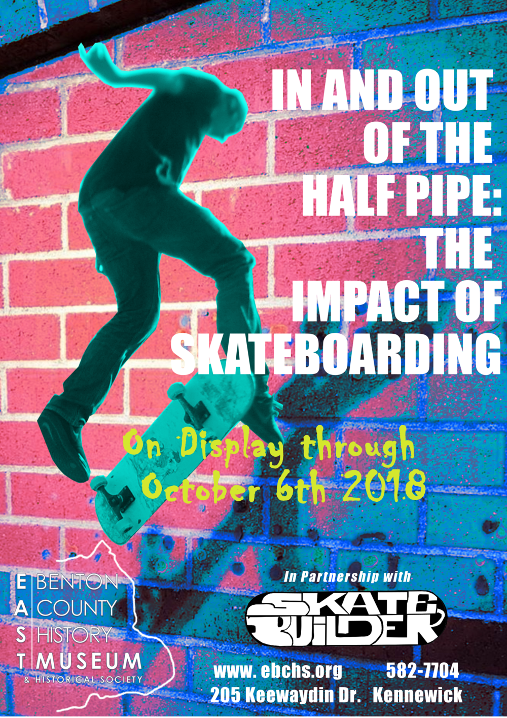 "Promotional Flier for ""In and Out of the Half Pipe: The Impact of Skateboarding"""