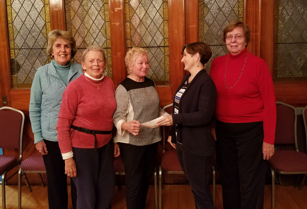 FFC presents a check to Barbara Steele, President of FISH