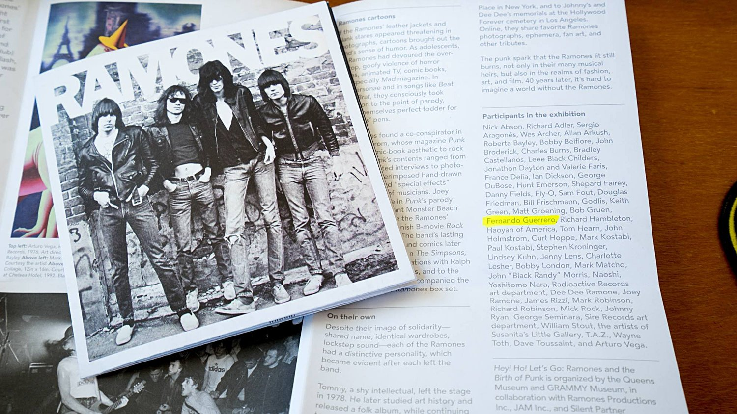 List of contributing artists for Ramones: Birth of Punk
