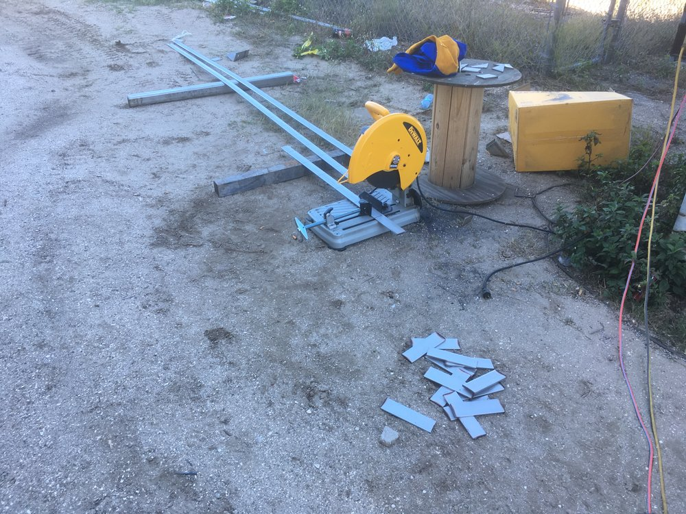 Installing Canopy Gutters