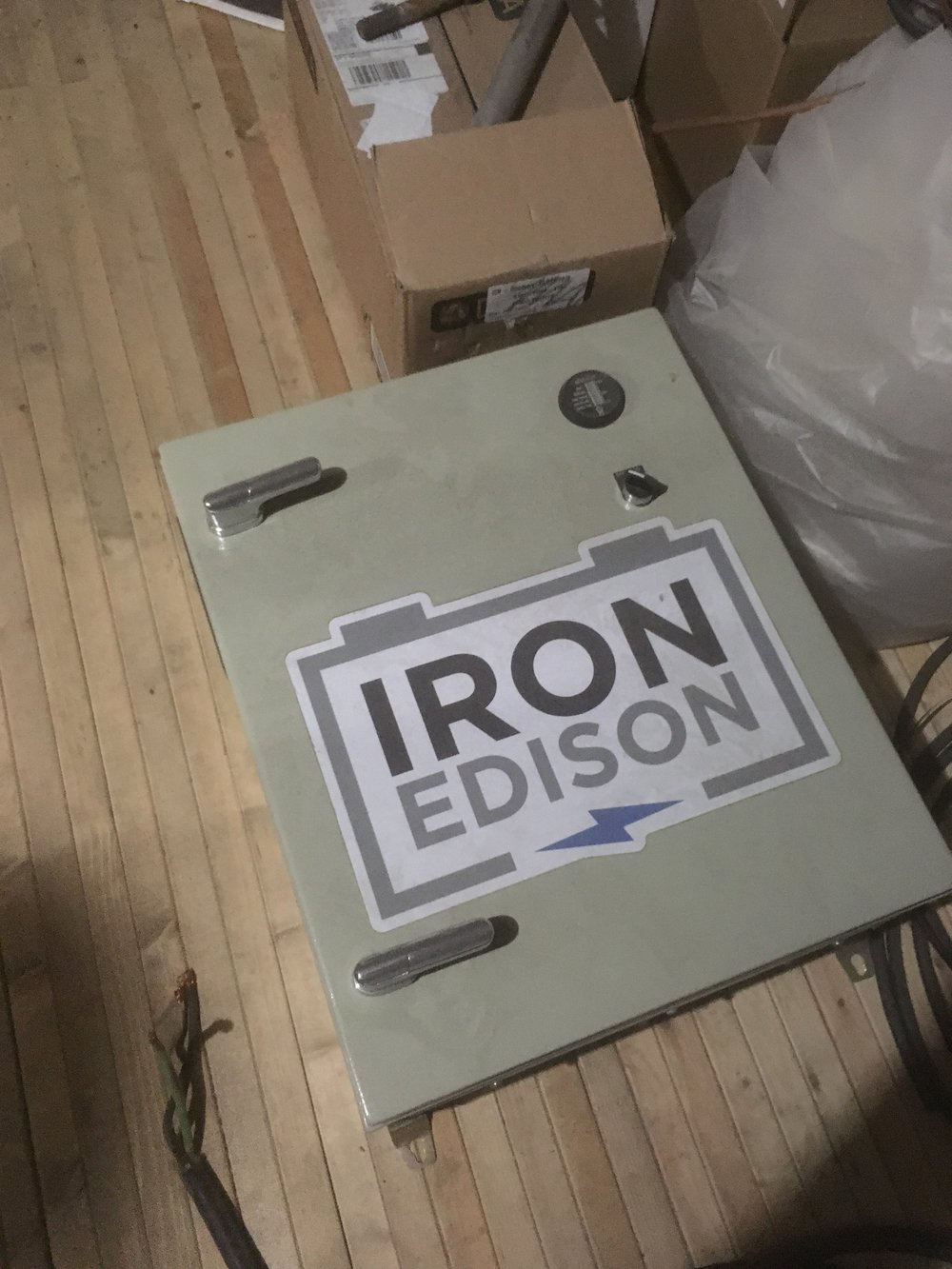 For this Iron Edison flew out from Colorado and assisted in the installation process.