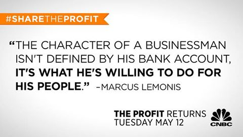 An example of a creative used to promote the #ShareTheProfit campaign.