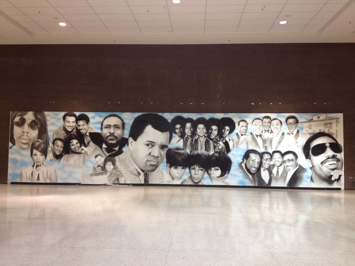 Motown mural by  @mrcliffnote  at Northland Mall. Southfield, Michigan. April 2015.