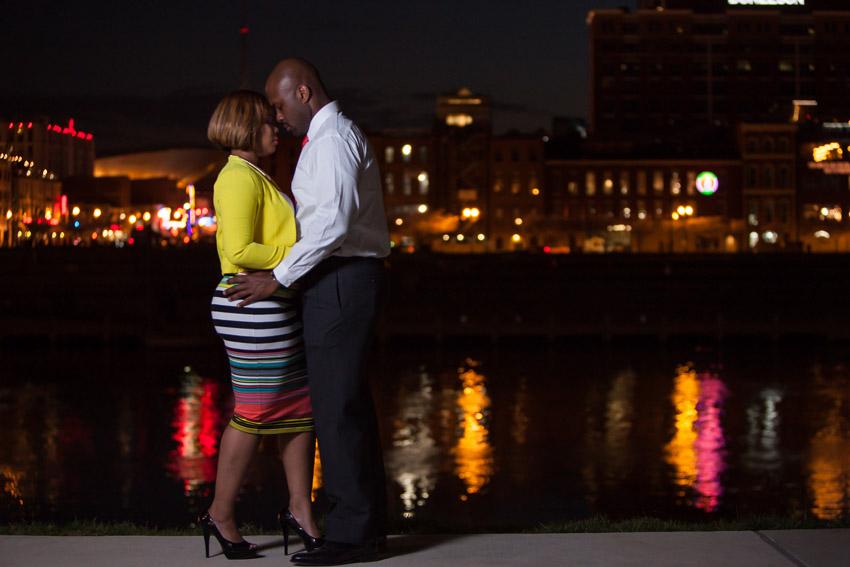 Nashville at Night Engagement Photos
