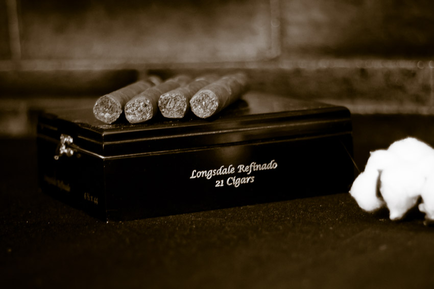 Of course you have to hae Cigars for Bonnie and Clyde Styled Wedding Photo Shoot