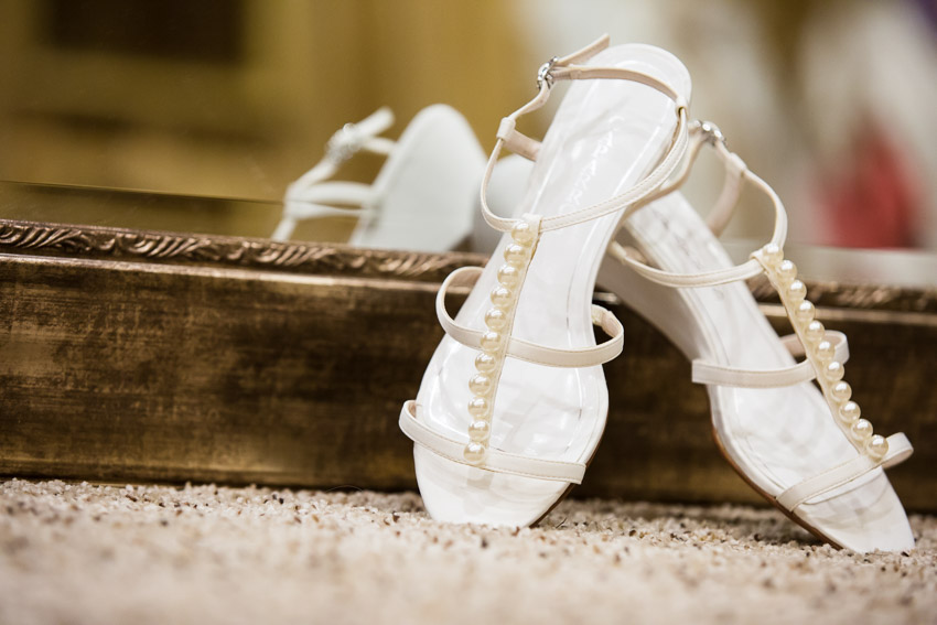 Wedding Shoes with pearls