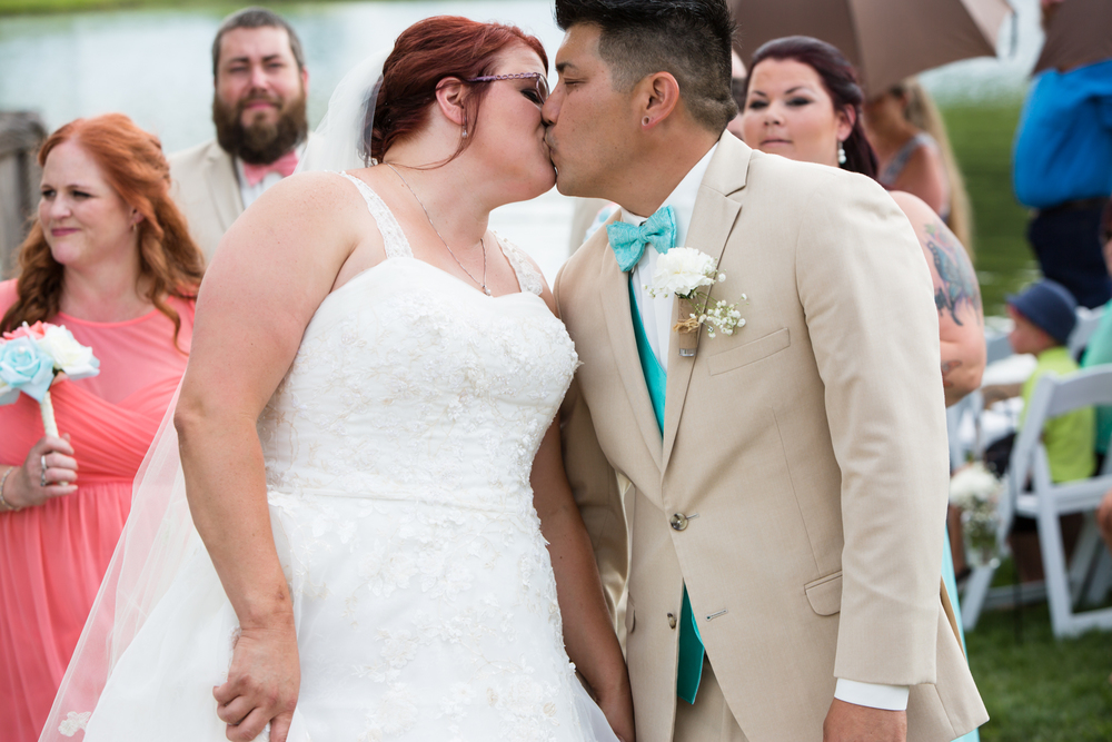 Recessional Kiss after ceremony