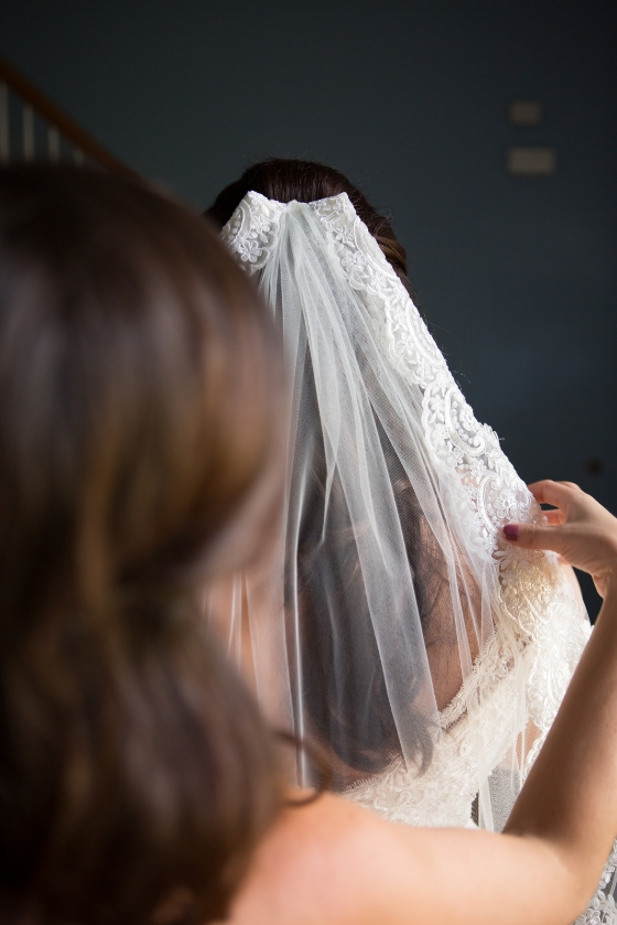 Jen selected the most perfect wedding veil to complement her wedding dress  for her wedding at Concordia Lutheran in Nashville Tennessee