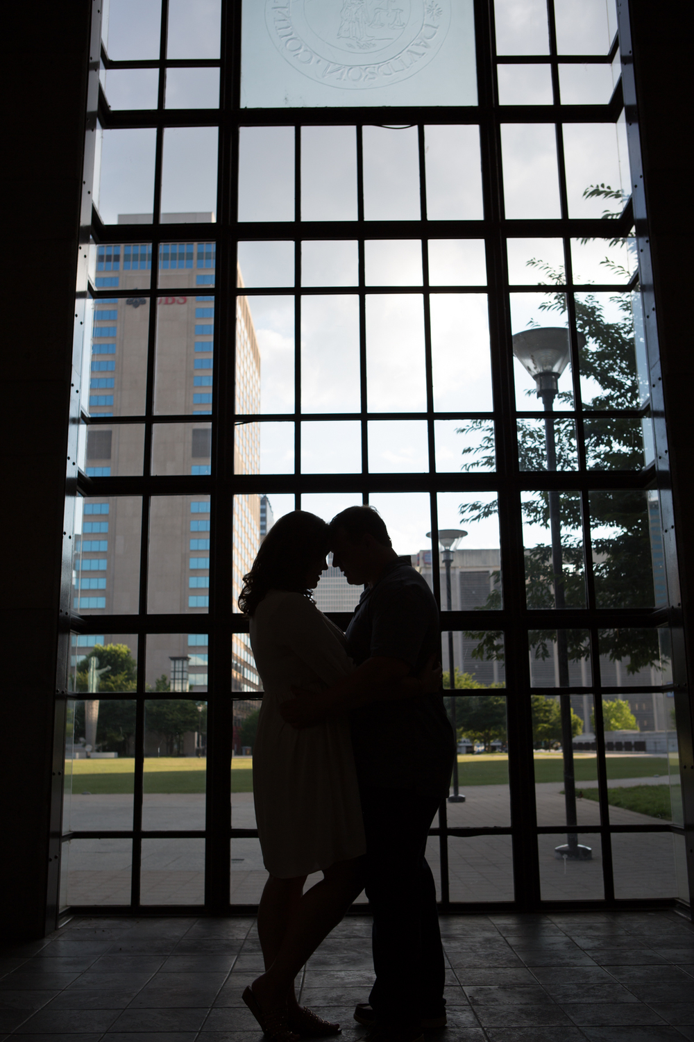 What a Beautiful Silhouette Engagement Pic with Nashville in the background.  It was such a delight to work with these two.