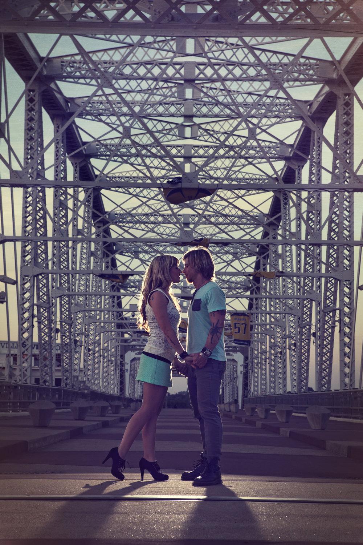 Nashville Pedestrian Bridge Engagement Session